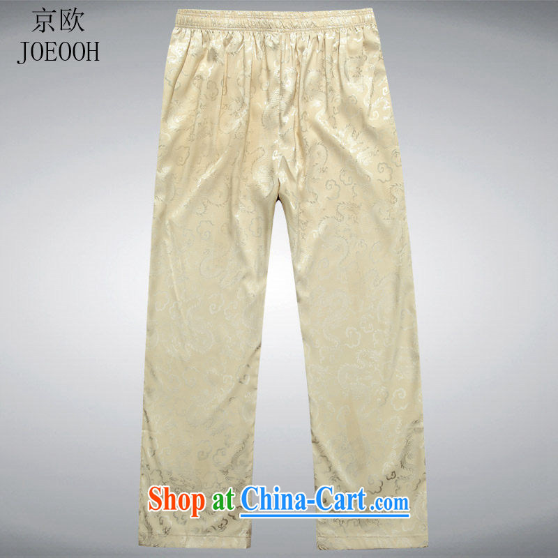 Putin's European Summer new, older leisure men's trousers has been the trousers Chinese leisure Chinese men's trousers beige XXL