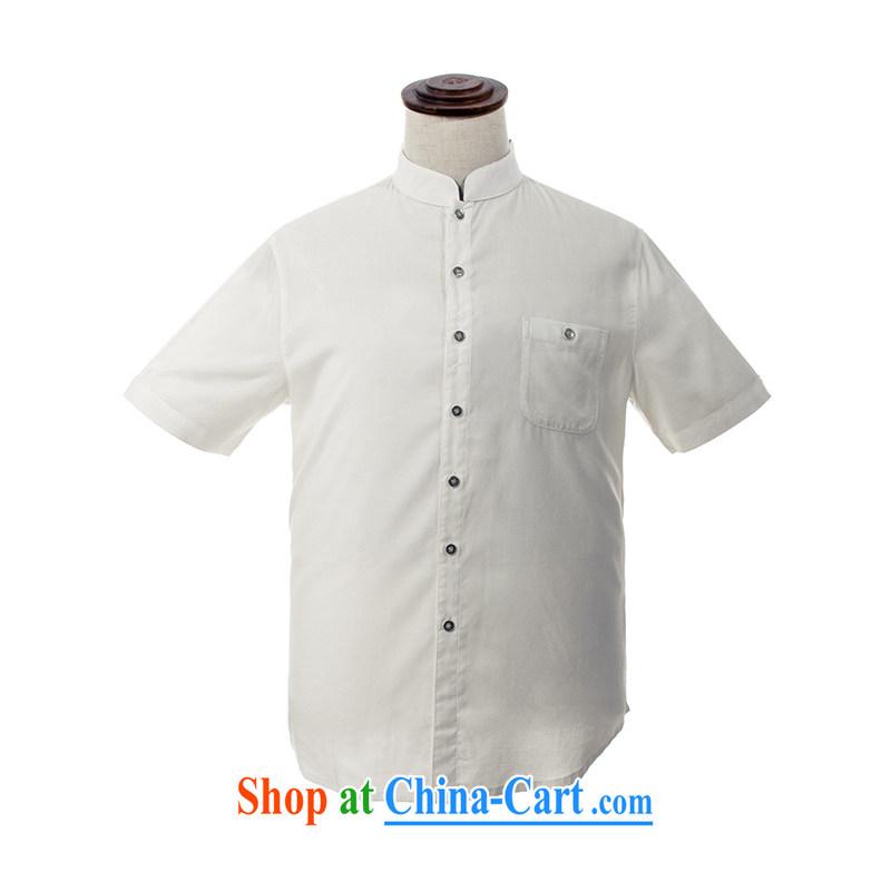 MOUNTAIN fresh quality NET day silk and cotton men's jogging Tang mounted CD 115 5171 white XXL