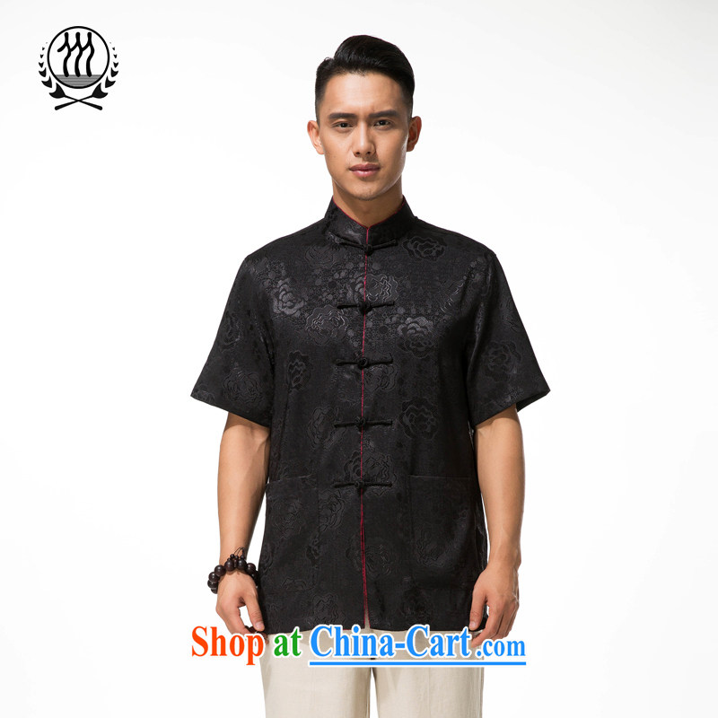and mobile phone line short-sleeved short summer with new products and new Tang replace short sleeved T-shirt T-shirt, Old Man Tang black XXXL/190