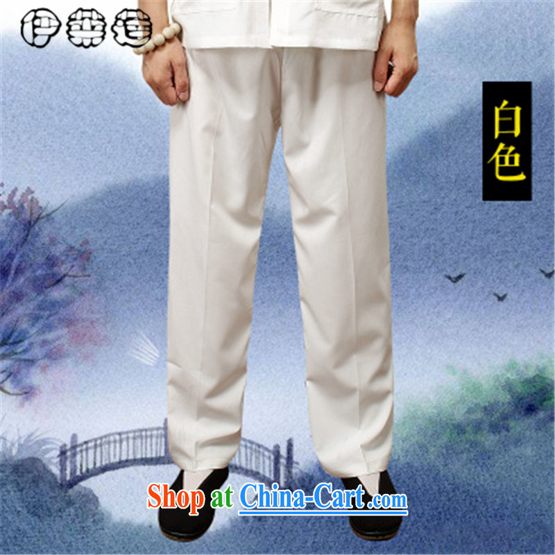 Mr. Lin 2015 Mr Ronald ARCULLI, Mr Tang pants older summer knitting cloth elastic long trousers and Tai Chi exercises trousers breathable loose the code older pants white XXXXL