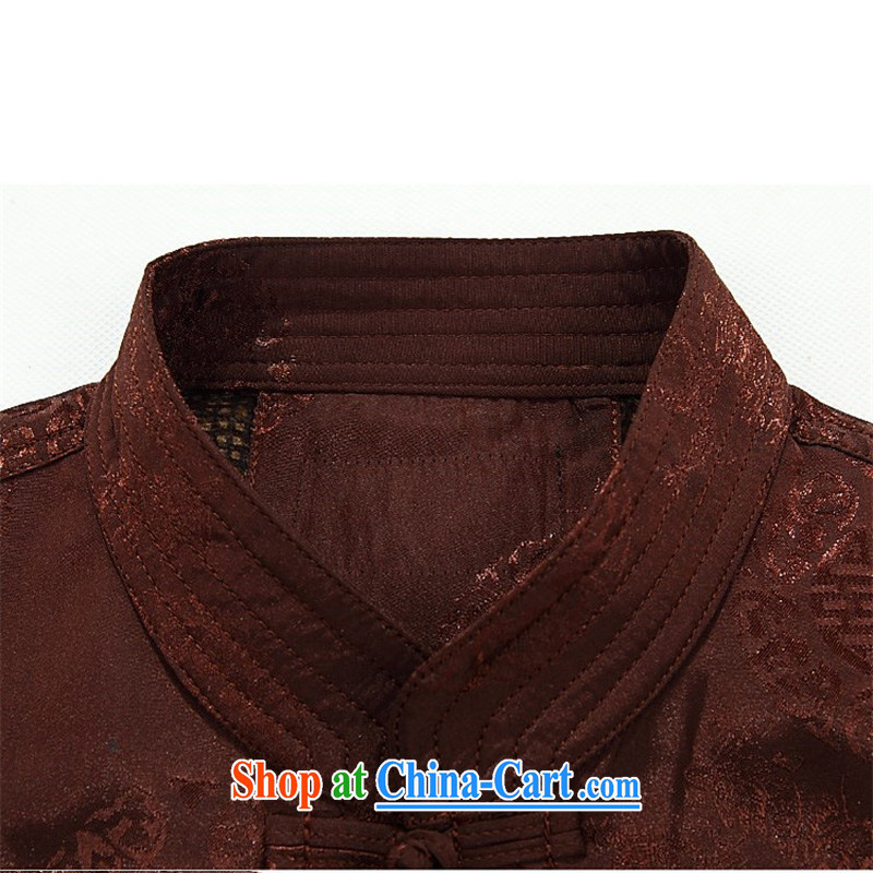 The chestnut mouse tang on the spring loaded Tang men's jackets older persons in casual jacket Tang with long-sleeved jacket red T-shirt XXXL, the chestnut mouse (JINLISHU), online shopping