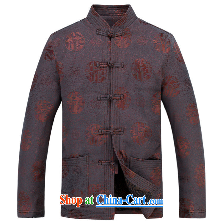 The poppy in the older Chinese T-shirt long-sleeved Chinese Han-Yau Ma Tei Cotton Men's Chinese leisure father with brown XXXL pictures, price, brand platters! Elections are good character, the national distribution, so why buy now enjoy more preferential! Health