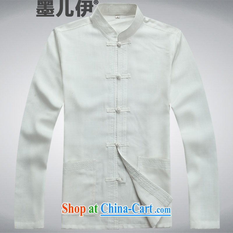 Older people in the short term the short-sleeve kit cotton linens home leisure father replace summer Chinese Tang load package Father's Day Gift Chinese style white XXXL