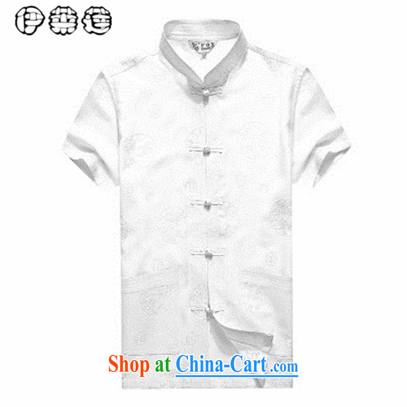 Mr. Lin 2015 summer, middle-aged linen short-sleeve shirt men, for Chinese loose the code China wind shirt middle-aged and older, served father yellow 185, Mr. HELENE ELEGANCE (ILELIN), shopping on the Internet