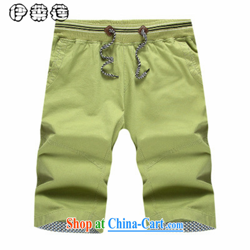 Mr. Lin 2015 summer, middle-aged men's Shorts summer father with elastic, Trouser Press loose the code middle-aged and older persons and casual 5 beach shorts green 4 XL