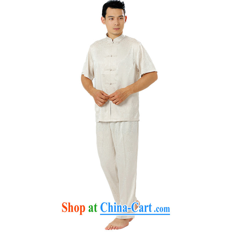 Luxury summer, new men's short-sleeved dress Chinese silk, older, straight for the code father male Tang replace manually the withholding morning Tai Chi practice serving white 185 pictures, price, brand platters! Elections are good character, the national distribution, so why buy now enjoy more preferential! Health