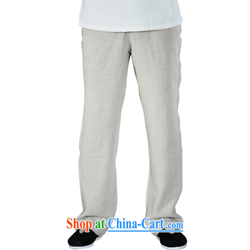 Linen pants men's summer men's pants loose cotton the commission has been the men's trousers ethnic wind trousers linen XL
