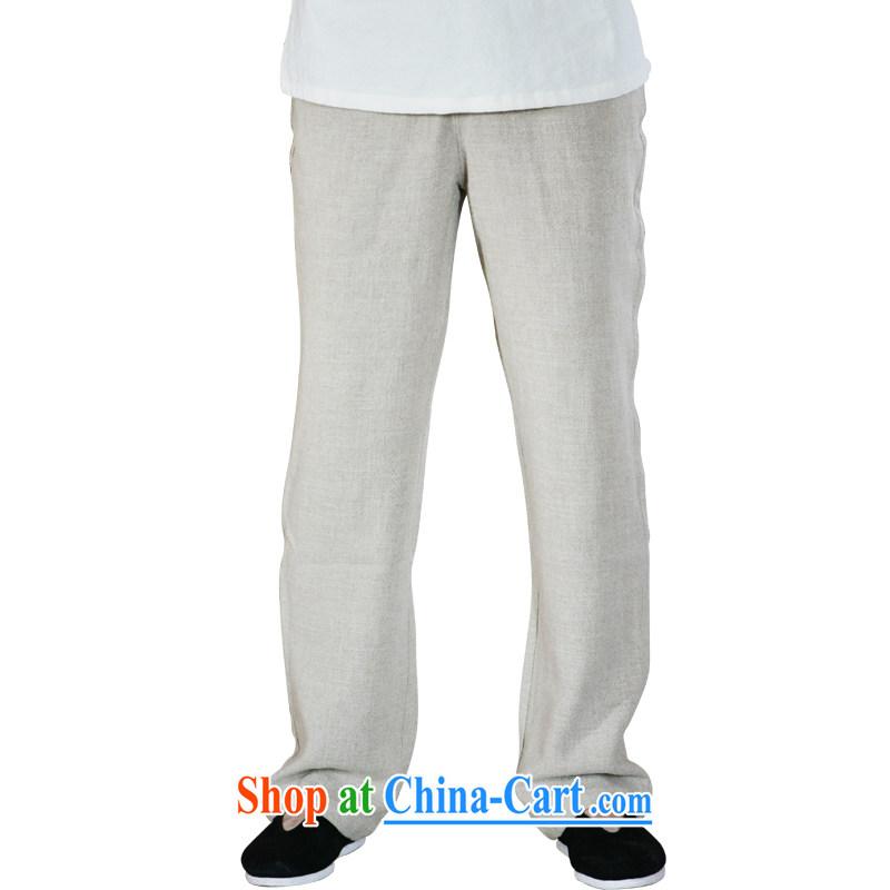 Linen pants men's summer men's pants loose cotton the commission has been the men's trousers ethnic wind trousers linen XL
