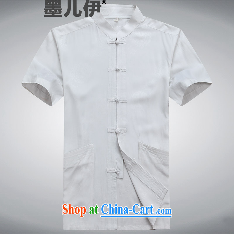 2015 New Tang replacing men's summer in older cotton Tang replace short-sleeved men's father is white XXXL