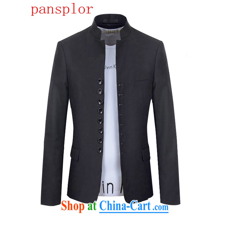 pansplor 2015 China wind retro 8 snap the collar smock suit 1216 - X 990 - F 85 black XXL
