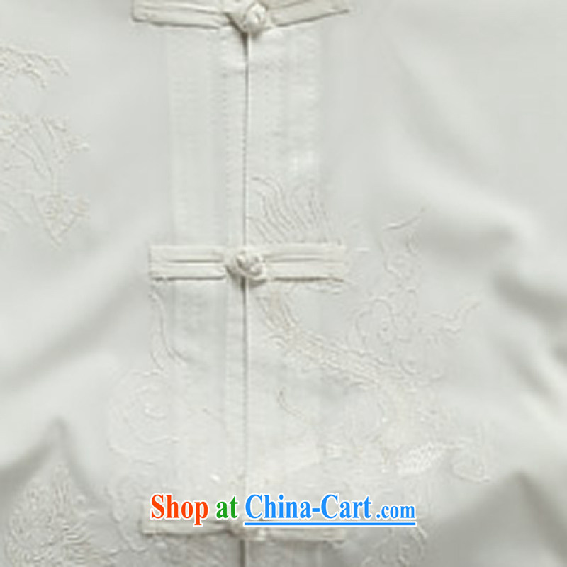 Summer men's Chinese short-sleeved T-shirt, elderly Chinese men and Chinese casual dress men and white XXXL, the child (MORE YI), shopping on the Internet