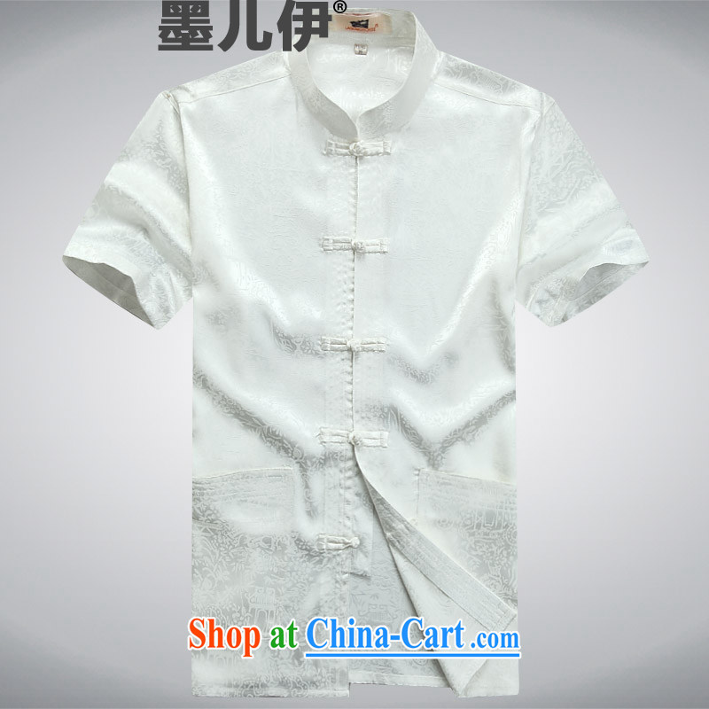Summer short-sleeved Chinese China wind in older Chinese Chinese Ethnic Wind elderly Chinese White A XXXL