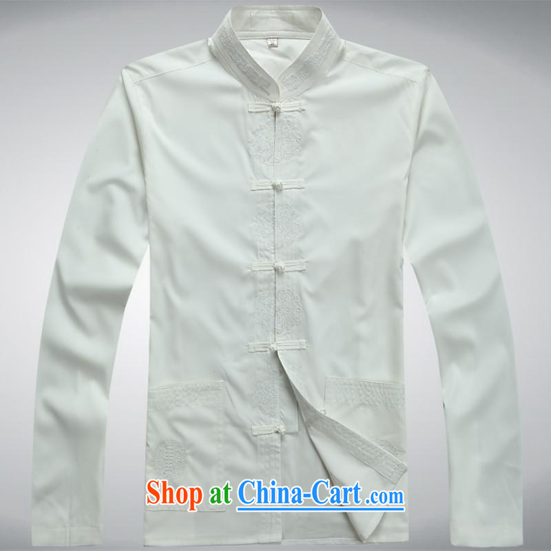 100 brigade BaiLv summer stylish thin, for comfortable long-sleeved tray snap leisure Package white L