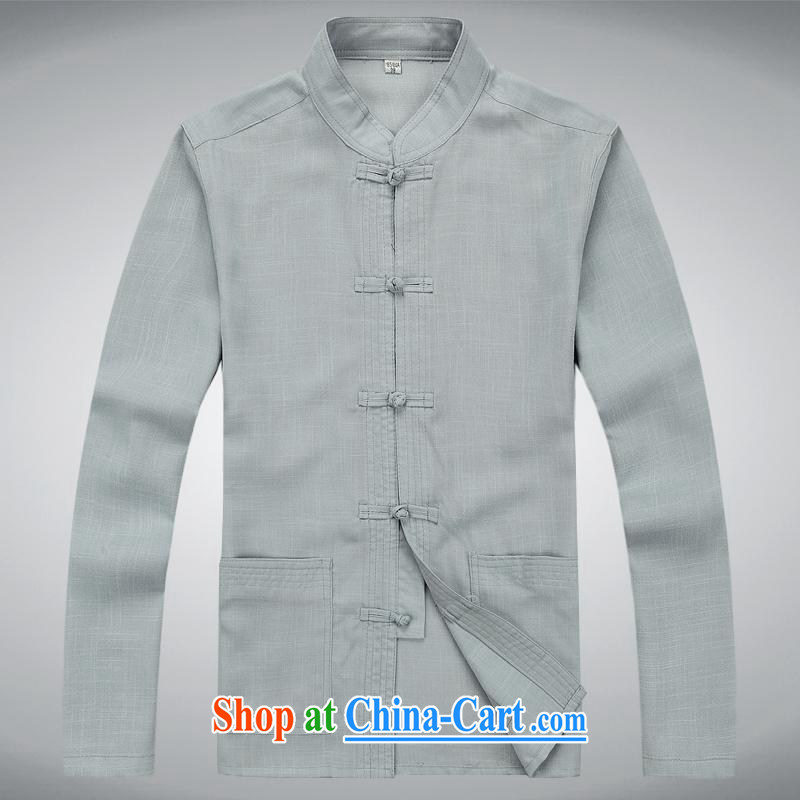 100 brigade BaiLv summer stylish thin, for comfortable long-sleeved tray snap Leisure package light gray XXXL
