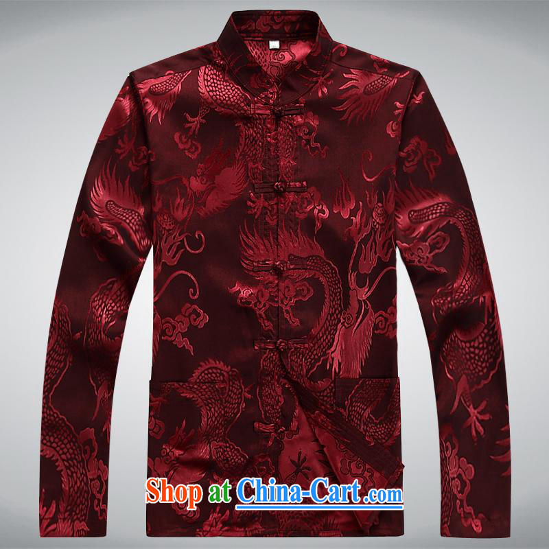 100 brigade BaiLv summer stylish thin, for comfortable long-sleeved tray snap Leisure package deep red L