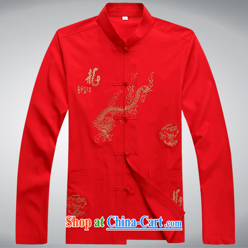 100 brigade BaiLv summer stylish thin, for comfortable long-sleeved tray snap Leisure package red L