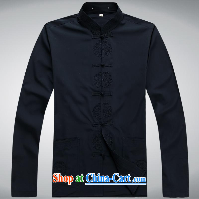 100 brigade BaiLv summer stylish thin, for comfortable long-sleeved tray snap Leisure package black XL