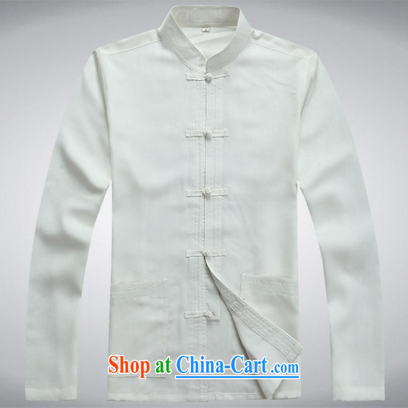 100 brigade BaiLv summer stylish thin, for comfortable long-sleeved tray snap leisure Package white XXL