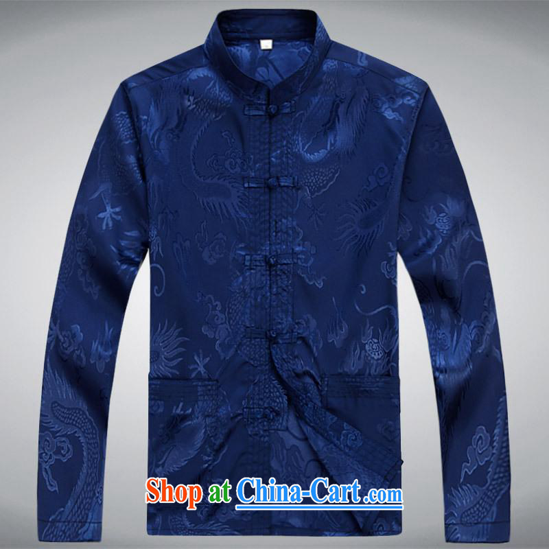 100 brigade BaiLv summer stylish thin, for comfortable long-sleeved tray snap Leisure package blue S