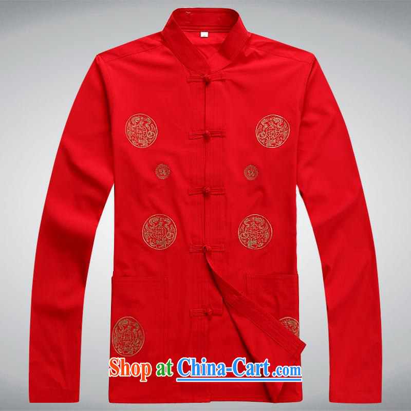 100 brigade BaiLv summer stylish thin, for comfortable long-sleeved tray snap Leisure package red XXXL