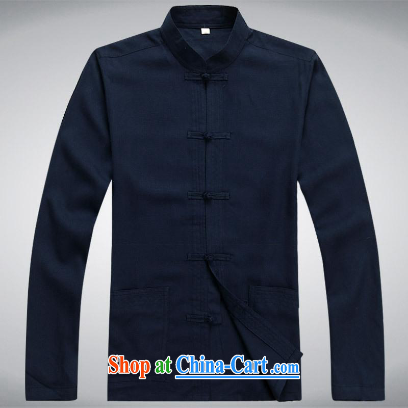 100 brigade BaiLv summer stylish thin, for comfortable long-sleeved tray snap Leisure package deep blue S