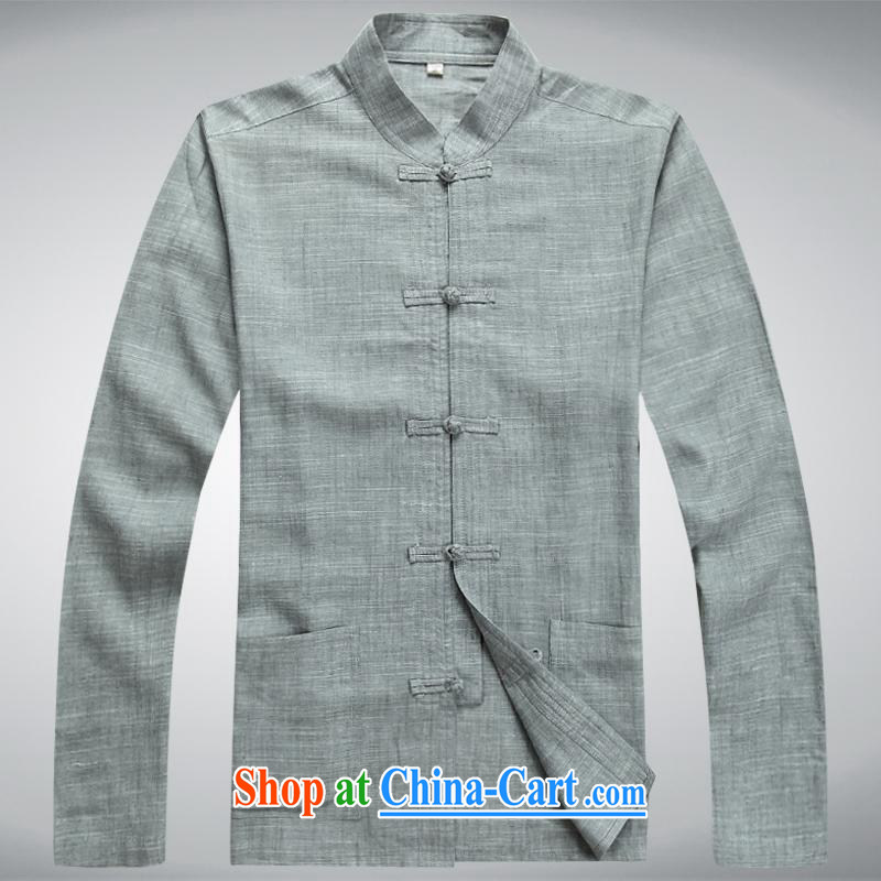 100 brigade BaiLv summer stylish thin, for comfortable long-sleeved tray snap Leisure package light gray XXL