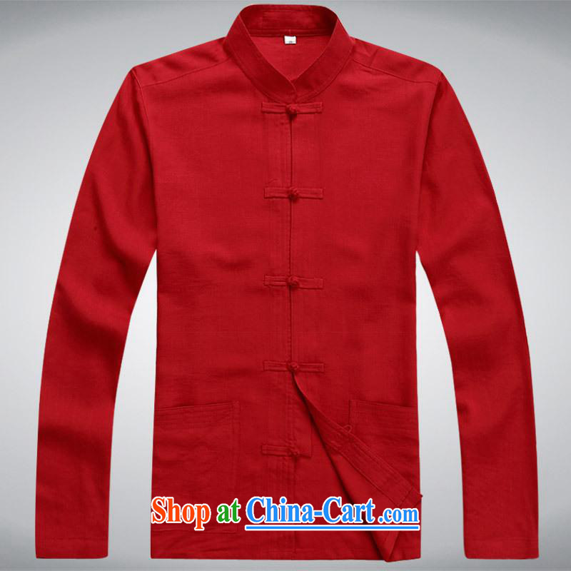 100 brigade BaiLv summer stylish thin, for comfortable long-sleeved tray snap Leisure package red XL
