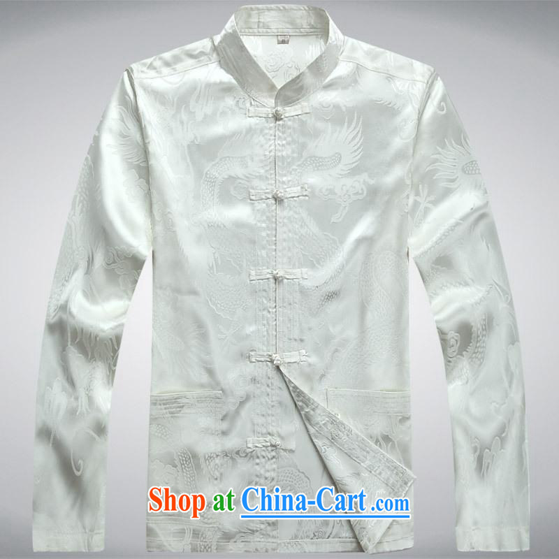 100 brigade BaiLv summer stylish thin, for comfortable long-sleeved tray snap leisure Package white XL