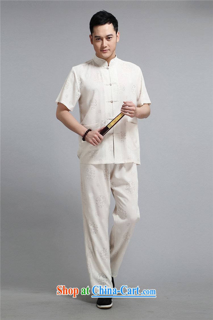 Europe's new summer, the Commission the dragon short sleeve with Chinese men, older men cotton the relaxed casual shirt T-shirt white 4XL/190 pictures, price, brand platters! Elections are good character, the national distribution, so why buy now enjoy more preferential! Health