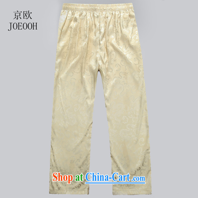 Beijing the Chinese high-end male Tang replace summer pants men's trousers beige XL, Beijing (JOE OOH), shopping on the Internet