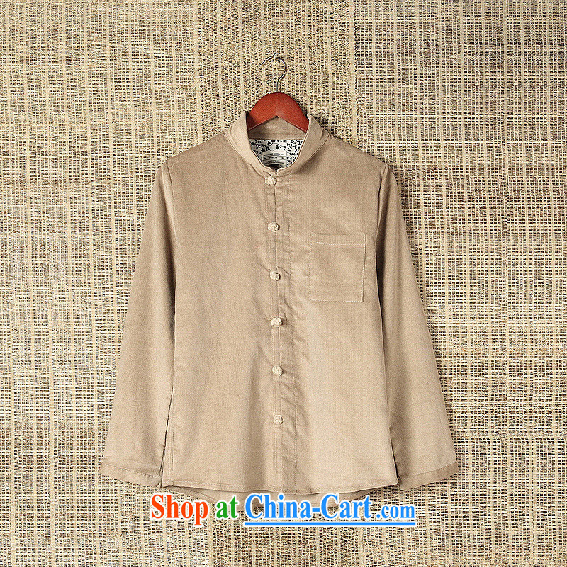 Dan Jie Shi C 56 Casual Shirt long-sleeved male and antique Chinese Autumn with China wind-SNAP-shirt autumn and winter clothing men's card its color XXL