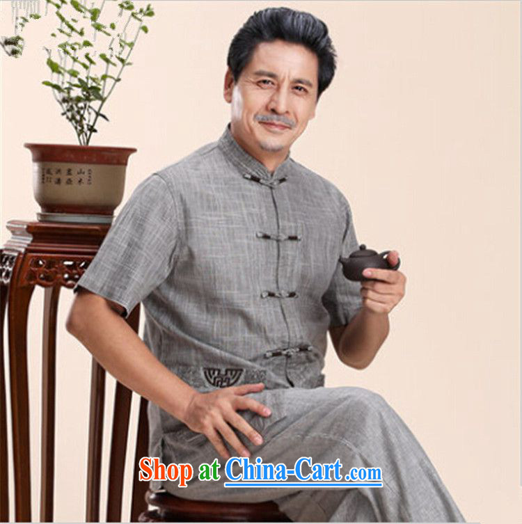 The dessertspoon, summer 2015, China wind men Tang is included in the kit older persons father short-sleeve men's old clothes with Grandpa summer retro men's gray XXXXL 195 pictures, price, brand platters! Elections are good character, the national distribution, so why buy now enjoy more preferential! Health