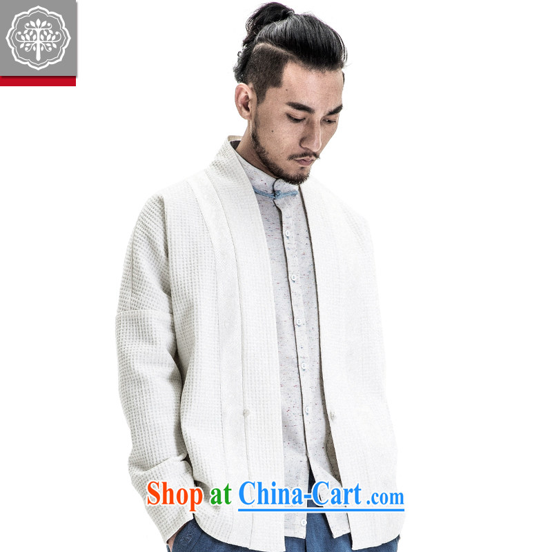 tree and Chinese wind men's Chinese improved the service men's spring 2015 new Chinese original men's retreat serving white 185_XXL