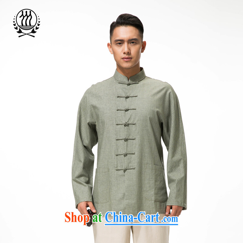 And in row 3 older Tang with long-sleeved T-shirt Ethnic Wind up for the charge-back cotton the long-sleeved T-shirt and comfortable cotton the long-sleeved T-shirt multi-color optional light green XXXL_190