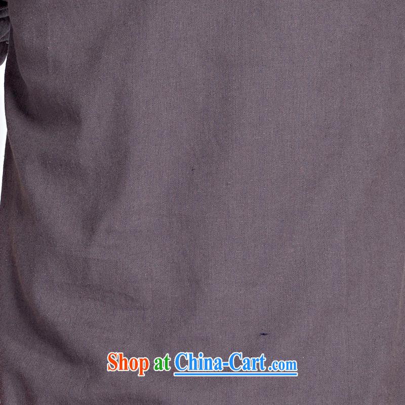 MR HENRY TANG HUANER load short-sleeved men's 2015 summer China wind and smock-han-linen short-sleeve Chinese shirt and Mr Ronald ARCULLI MELD blue - Dark purple XXXL, HUANERFUSHI, shopping on the Internet
