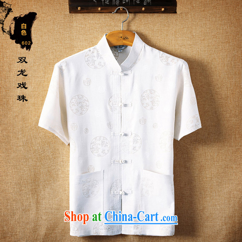 Mr . baidis men Tang load package summer short-sleeved older people in my father and grandfather's Chinese summer TZ 02 gray XXL -185, Mr . baidis, shopping on the Internet