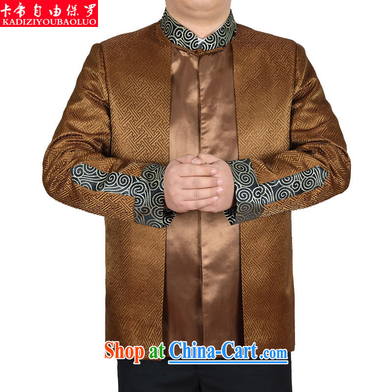 The Royal free Paul 2015 men's new Chinese men, older long-sleeved T-shirt Chinese jacket men's China wind men's jackets package mail-ho and Kim 190_3 XL