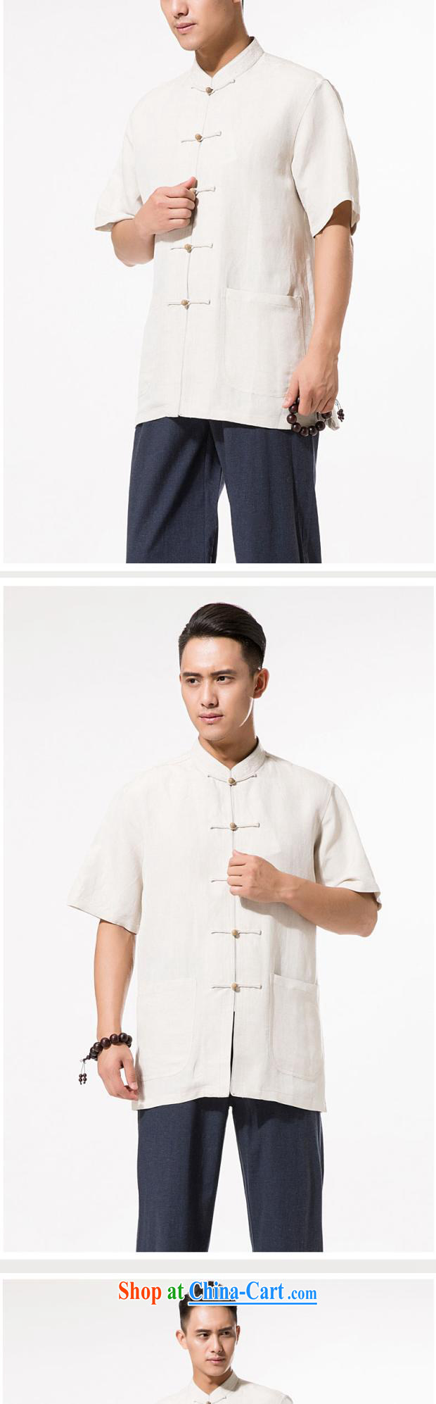 And 3 row cotton summer the Commission, short-sleeved shirt in the elderly, relaxed and comfortable cotton mA short-sleeved T-shirt China wind hand-tie cotton Ma Dad shirt with beige XXXL/190 pictures, price, brand platters! Elections are good character, the national distribution, so why buy now enjoy more preferential! Health