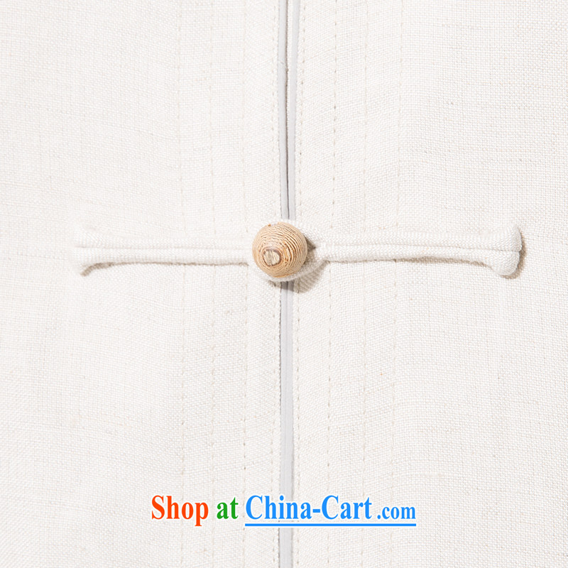 And 3 row cotton summer the Commission, short-sleeved shirt in the elderly, relaxed and comfortable cotton mA short-sleeved T-shirt China wind hand-tie cotton Ma Dad shirt with beige XXXL/190, and mobile phone line (gesaxing), and, on-line shopping