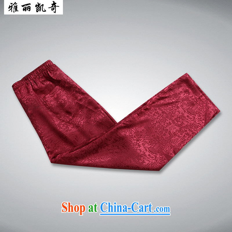 Alice, Kevin male Chinese package summer short-sleeved older people in his father and grandfather elderly men and Chinese summer male Chinese, for men's shirt half sleeve red package 190, Alice, Kevin, shopping on the Internet