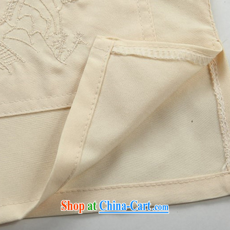 The chestnut Mouse middle-aged and older men Tang load package summer middle-aged short-sleeved smock and grandfather Tang replace summer m yellow package M, the chestnut mouse (JINLISHU), shopping on the Internet