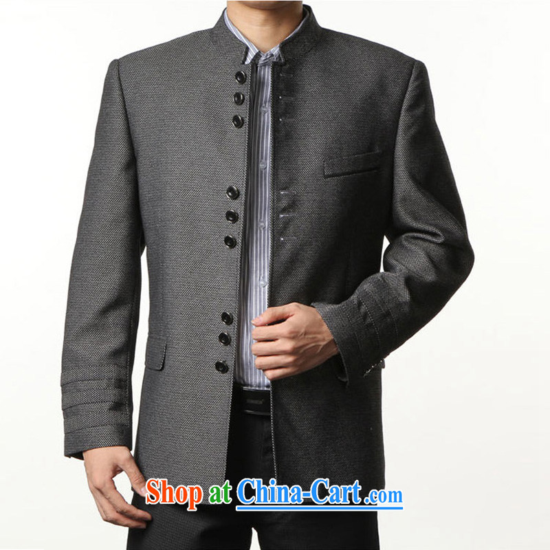 Wuwing/move wing Prince spring men Generalissimo Chinese Antique wool smock nickname, for cultivating smock suit jacket take gray 56/180 jack - 200 jack