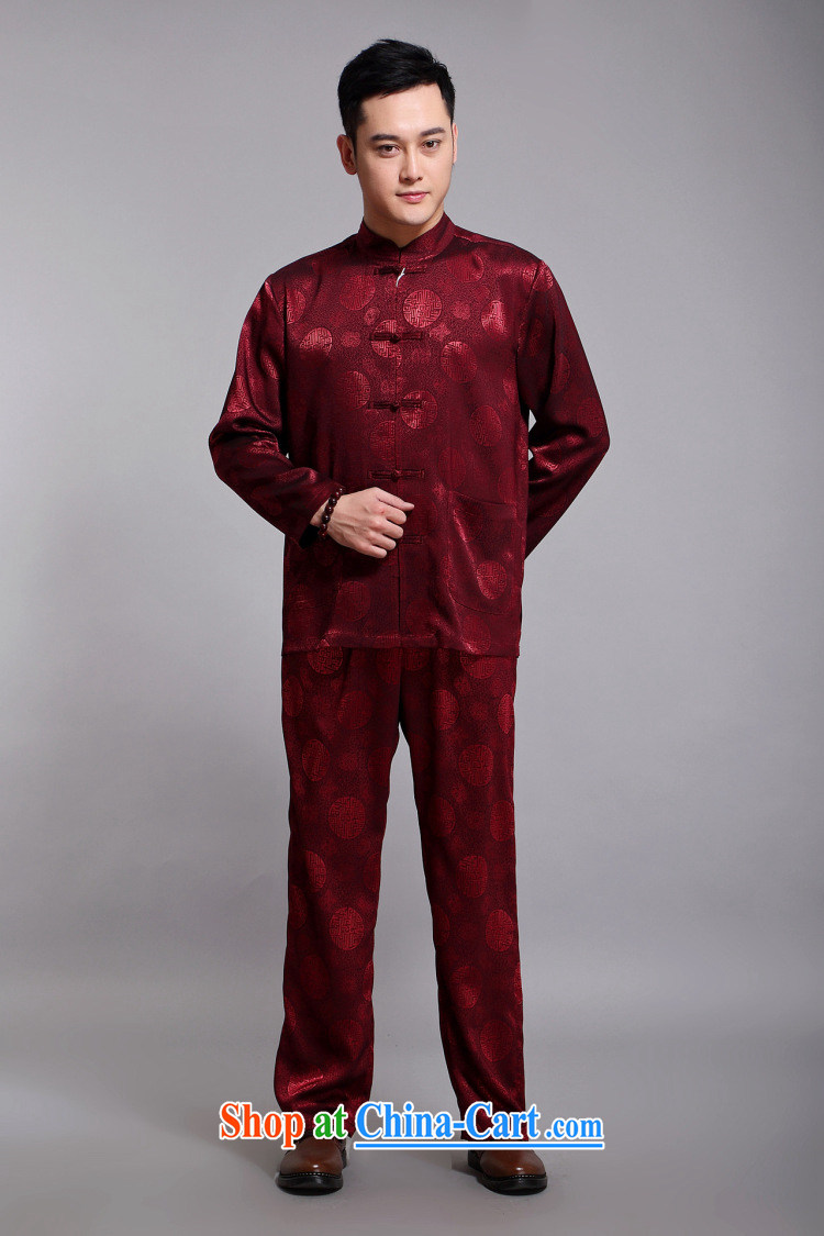 Silver armour middle-aged and older Chinese men and set new long-sleeved Chinese style Jubilee 1000 Han-male Chinese sauna silk Chinese leisure father red 180 pictures, price, brand platters! Elections are good character, the national distribution, so why buy now enjoy more preferential! Health