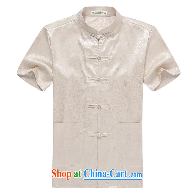 Mr . baidis men Tang package with short-sleeve older people in his father and grandfather with Kung Fu summer DK 108 Classic Blue 175/L, Mr . baidis, shopping on the Internet
