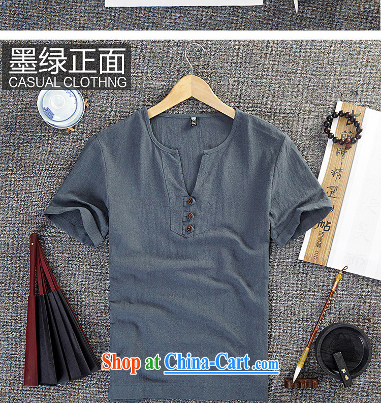 Old Mr Rafael Hui Carter (GUSSKATER) summer National wind linen clothes half sleeve larger units the commission T shirts China wind short-sleeved V for men's clothing, loose T-shirt white 5XL pictures, price, brand platters! Elections are good character, the national distribution, so why buy now enjoy more preferential! Health