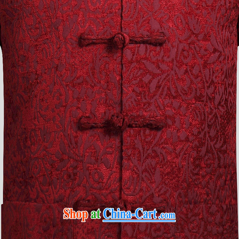 Van Gogh's annual fall and winter new Chinese men and long-sleeved jacket Chinese, manually for the withholding of the Chinese 816 W wine red 4 XL, Van Gogh-ho, and shopping on the Internet