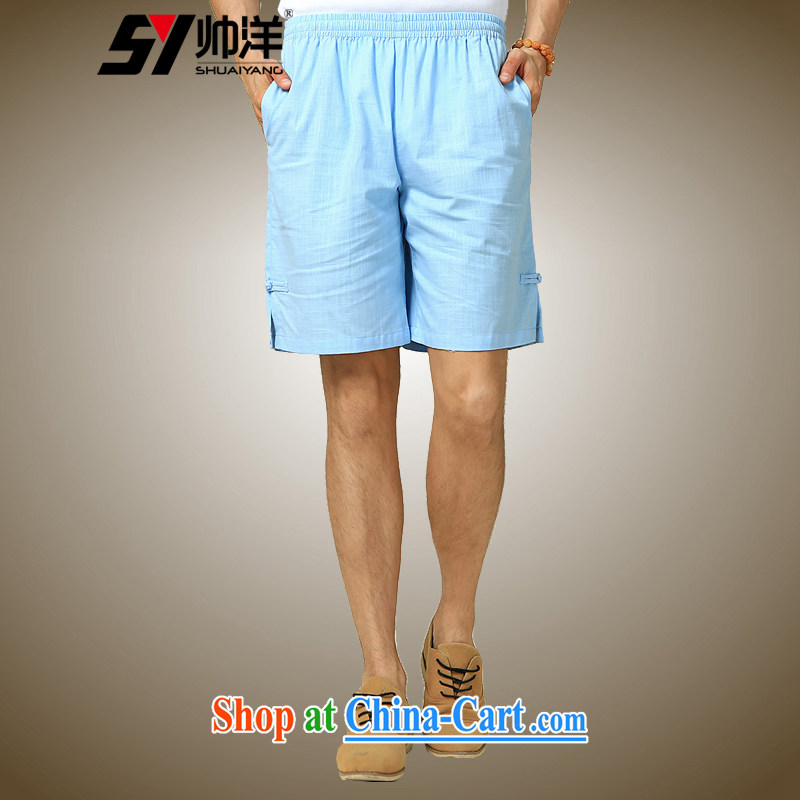 cool ocean 2015 summer New Men Tang dress shorts China wind pants Chinese the withholding of 5 pants Navy (shorts) 180/XL, cool ocean (SHUAIYANG), shopping on the Internet