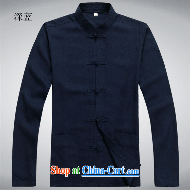 The chestnut mouse Tang package installed in long-sleeved older men's middle-aged men with short summer thin relaxed casual China wind father with his grandfather with dark blue Kit XXXL pictures, price, brand platters! Elections are good character, the national distribution, so why buy now enjoy more preferential! Health