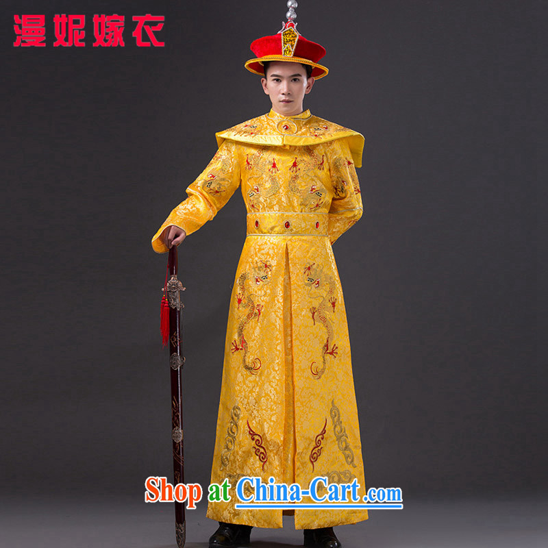 Time SYRIAN ARAB costumes clothing men and ancient Qing dynasty imperial Emperor Emperor loaded dragon robe film photography Prince Edward Han-show King photo building Photo Album clothing costumes adult,