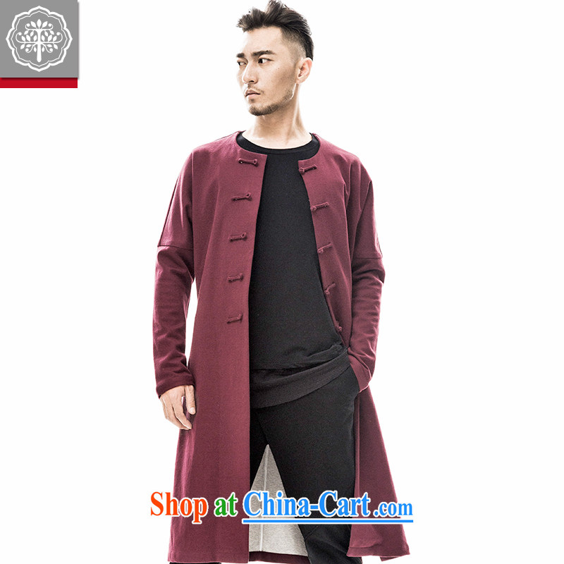 2015 fall/winter new paragraph tree Chinese men and Han-improved autumn tides, long coats Chinese jacket men and Chinese Wind and Zeng Peiyan color 185/XXL